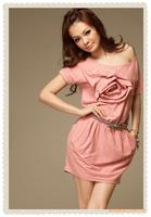 2014 fashion Drop shipping / Cotton spend BaoLei / flowers / even body / dress / Off Shoulder women's dress Free Shipping