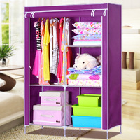 Simple wardrobe single combination wardrobe steelframe thickening simple wardrobe clothes cabinet