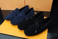 Men male design real suede skull leather casual flats loafers shoes