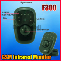 F300 Mini GSM Monitor Infrared Camera Real-time Video Record Alarm Home Warehouse Office Security, Drop Ship and Wholesale!!