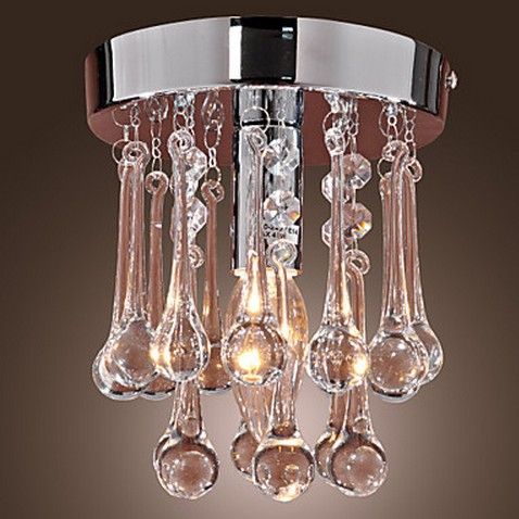 40W Modern Chandelier Crystal Semi Flunsh Mount(China (Mainland))