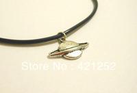 20pcs/lot Planet Pendant Chokers Necklace 90's Leather Necklace Pendants