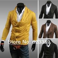 Free shipping 2014 new arrival hot fashion men's cardigan jacket cotton shirt sweater Korean version jackets Slim Man for men