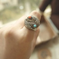 New fashion jewelry copper with gold plated thin finger Rings gift for women girl wholesale R-005