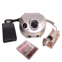 Newest Professional electric nail drill file machine manicure pedicure kit with foot pedal Nail polisher