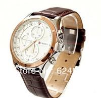 CURREN Brand Men Leather strap Watches,Fashion Quartz Military Waterproof Wristwatch