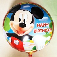 Free shipping 50 pcs/lots foil balloon , mickey mouse birthday party supplies,mickey balloons 45CM*45CM