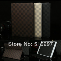High Quality Plaid Patterns Design Leather Smart Cover Case for iPad Air ipad5