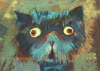 ACEO/ Cat / Kitty / Limited Edition Print from an Original Painting by S Hahonin