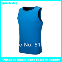 Dropshipping 2014 summer new quick dry Sports Shirt Vest sleeveless Fitness Workout Cycling Tights Fit mens tank tops fitness