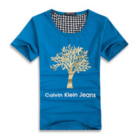 The new summer Korean couples  a short sleeve T-shirt creative trend little golden tree for male and female T-shirt street style