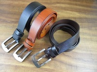 fashion men jeans belts in top layer leather factory price