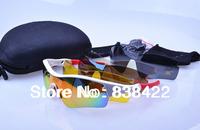 New Brand Radar Path Cycling Bicycle Bike Outdoor Sport SunGlasses Eyewear Sunglasses 5Pcs lens 5Pcs/lot Wholesale Free Shipping