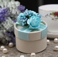 Hot Sale Bride and Groom Box  Free Shipping 10pcs/lot Round Bride Wedding Candy box WD14016
