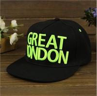New Letter GREAT LONDON Baseball Cap, Men Women Fashion Hip-Hop Flat-brimmed hats ,Snapback Hat    Hats & Caps