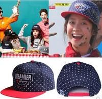 Running man,Dot  printed baseball caps, hip-hop caps, hats for men and women