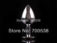 large size Metal Anal plugToys Size: 4.1*9.5CM Butt Plug Metal+Crystal Jewel