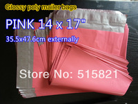 "[cnklp]-Hot Pink 14"" x 17"" Usable / 35.5x 47.6cm external/ SELF SEAL POLY MAILERS BAGS ENVELOPE [300PCS]"