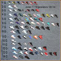HOT Jordan Models Sneaker 1 2 3 4 5 6 7 8 9 10 11 12 13 Generations Keychain Jordan Shoe Trinkrt Sports Souveni AJA00401