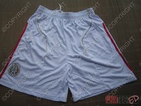 Embroidery football shorts casual pants sports pants white
