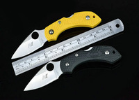 Hot sale ! Free Shipping 2pcs\lot OEM Spyderco H1 NEW ABS handle Pocket  knife Survival \ Camping  \ hunting  Free Shipping