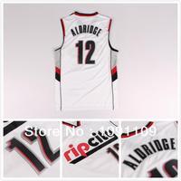 Rip City Portland #12 Lamarcus Aldridge White New Fabric REV 30 Basketball Jerseys Cheap Jersey Rip City Edition Men's Jerseys