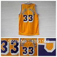 Los Angeles 33 Kareem Abdul-Jabbar Jerseys Basketball Jerseys Jabbar VINTAGE MESH Embroidery Logos S-XXL Jerseys del baloncesto
