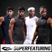 2014[On Sale]32001  Men's > Summer >Fashion Sleeveless> Slim  Compression T-shirts  Black