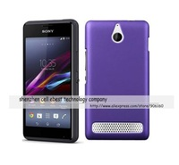 Rubber hard case cover For Sony Xperia E1,10pcs/l,free shipping