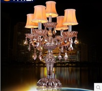 2014 new European fashion luxury crystal table lamp bedroom bedside lamp living room lobby Crystal worldwide free shipping