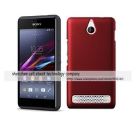 New DHL free shipping 50x hard rubber matte case cover For Sony Xperia E1