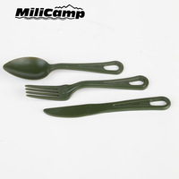 Polycarbonate outdoor wowoods outdoor camping tableware piece set knife and fork spoon aluminum alloy chains western tableware