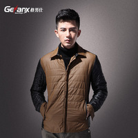 Autumn and winter male plus velvet design short cotton-padded jacket fashion brief outerwear cotton-padded coat wadded jacket