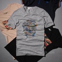 men's fashion  t-shirt  Mcq colored drawing men's short sleeve t-shirt 1782 grey  S-M-L-XL