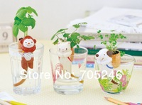 New arrive hot sale 3Pieces Self-Watering Tail Planters / Animal Planters - Cat+Dog+Monkey