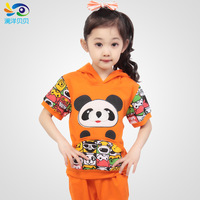 Summer 2014 family fashion cartoon kindergarten park service performance wear set