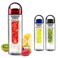 Retail1469 tritan plastic outdoor sports bottle lemon sports fruit cup  (CQ)