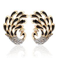 Accessories female fashion animal peacock austria crystal k gold stud earring elegant earring