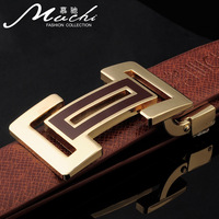 Hot-selling male strap genuine leather plate buckle strap Men belt chromophous cowhide strap