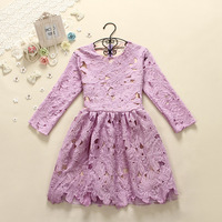 2014 spring three quarter sleeve slim a basic skirt lace one-piece dress female
