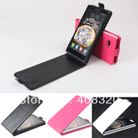 Original Up-Down Flip PU Leather Case For Lenovo K910 , Free Shipping