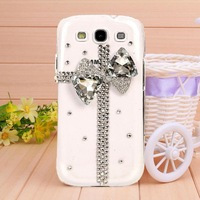 10Pcs/Lot Fashion Eli knot Rhinestone Case For Samsung Galaxy S4 S IV i9500, Mobile Border Protection Hard Shell Cover