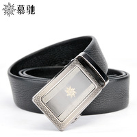 Male automatic buckle strap first layer of cowhide business casual genuine leather belt pdezdm7