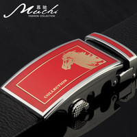 Red belt anniversary edition male first layer of cowhide genuine leather belt strap