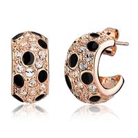 Stud earring female fashion mohini leopard print crystal vintage earring earrings women's fashion decoration earrings
