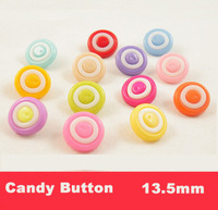 Free shipping! Candy color,Random Mixed DIY Resin Sewing Buttons Scrapbooking 13.5mm,bulk buttons(SS-682)