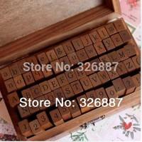 Wooden Stamps AlPhaBet digital and letters seal 70 pcs set standardized form stamps  DIY Scrapbooking/Card Making Decoration