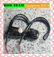 New Arrival 2014 ear hook  style in-earphone super bass earphone  free shipping