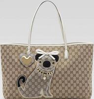 New 2014 Women Bag Handbags Famous Brand Fashion Large Canvas One Shoulder Bag Bow Puppy Heart Big Tote Bolsas for Women Girls
