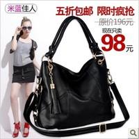 Genuine leather women's handbag 2014 first layer of cowhide handbag fashion messenger bag large bag women's casual